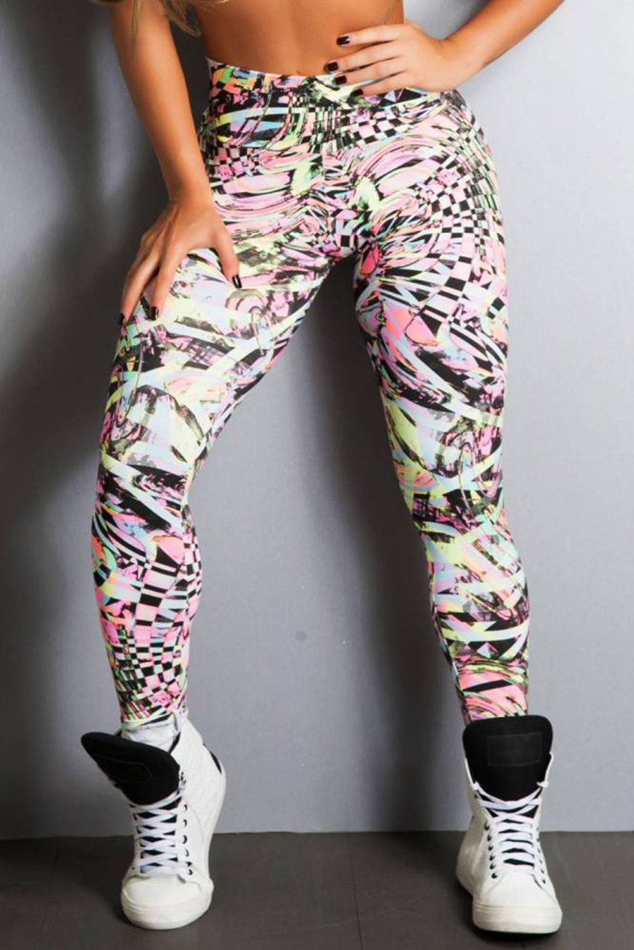 Legging Fitness Supplex Cós Alto Mix Flok