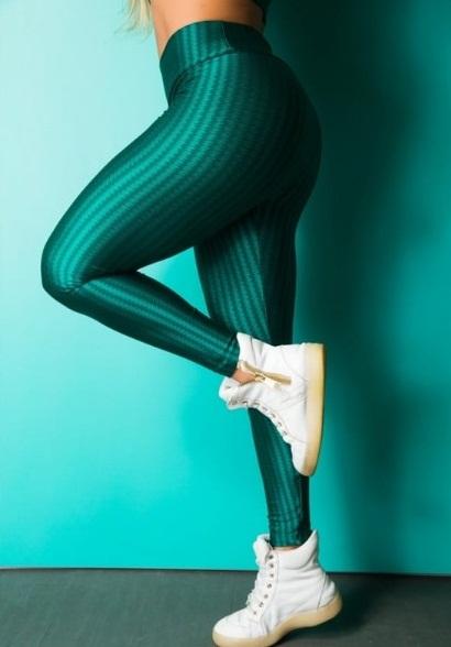 Legging Fitness Supplex Cós Alto Estampa Melancia Verde