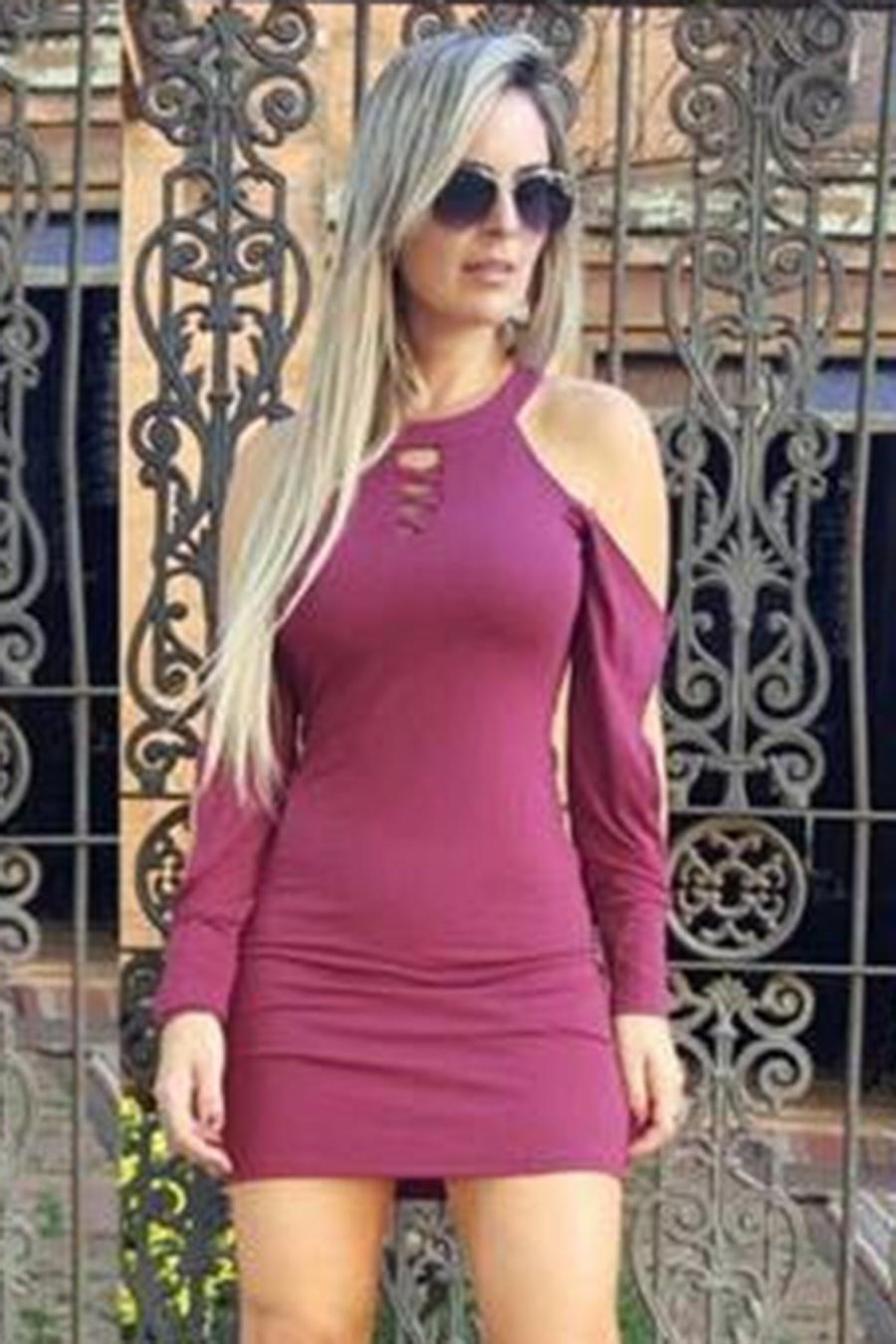 Vestido Curto Santini Roxo