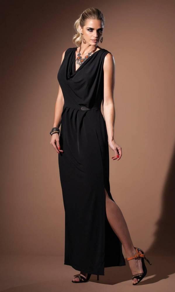 Vestido Longo Fenda Lateral Hitway