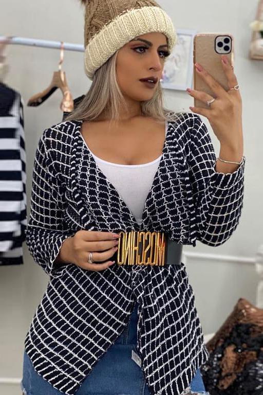 Kimono Tricot Assimétrico