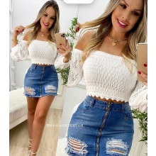 Cropped Tricot Ciganinha Modal