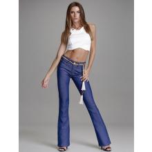 Calça Jeans Flare Azul Cintura Alta