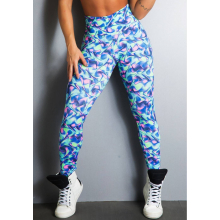 Legging Fitness Supplex Cós Alto Artistic Multicolor