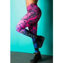 Legging Fitness Supplex Cós Alto Paint Multicolor