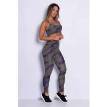 Conjunto Fitness Top Legging Supplex Serpent Multicolor