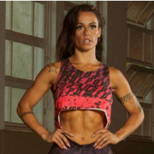 Cropped Fitness Viscolycra Nadador Mullet Print Power Rosa
