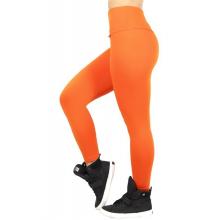 Legging Fitness Supplex Cós Alto Lisa Laranja