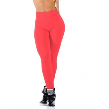 Legging Fitness Supplex Cós Alto Lisa Vermelha