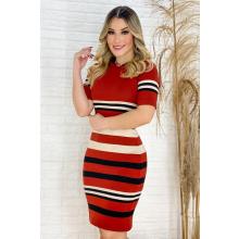 Vestido Midi Tricot Stripe