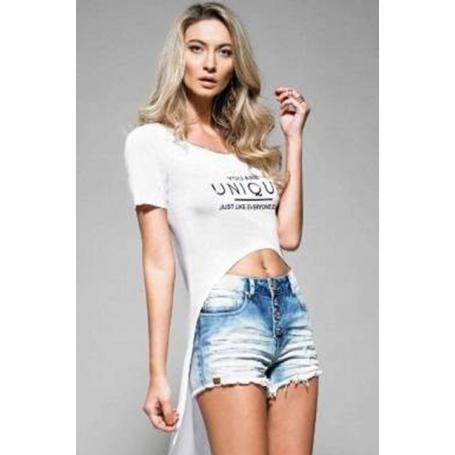 Short Curto Jeans Azul Indigo