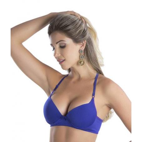 Sutiã Bojo Azul Tiras Decote Posterior