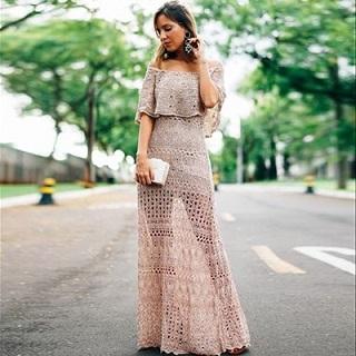 Vestido Longo de Tricot